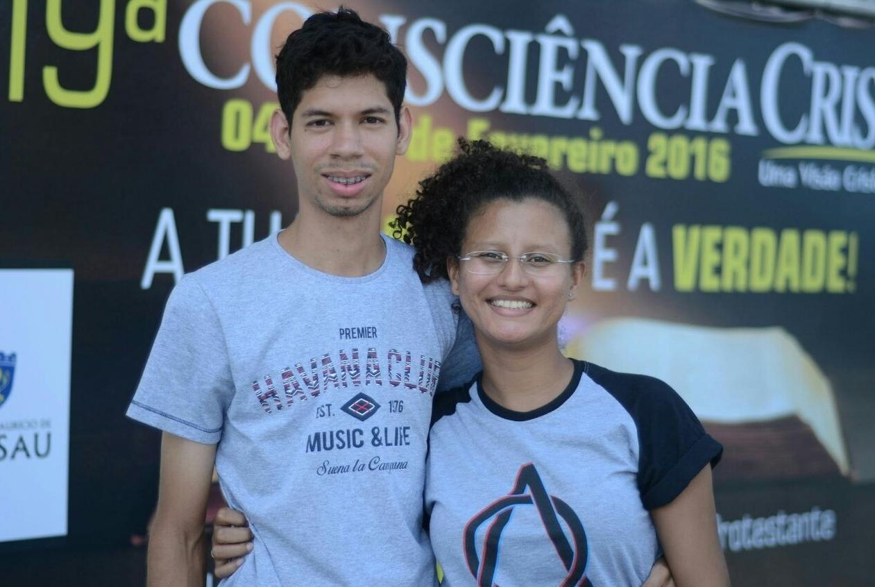 Jennifer com o esposo, Paulo jean