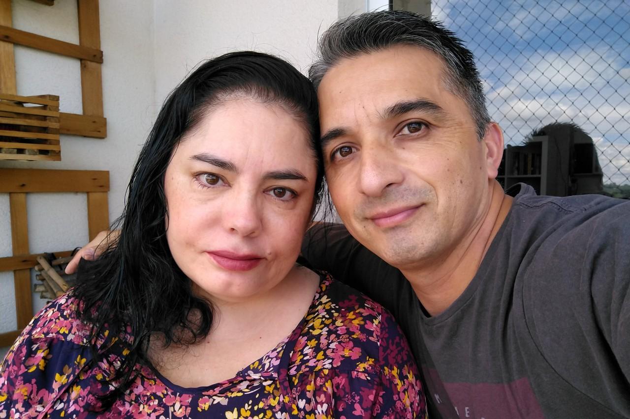 Juan e Vero sorrindo
