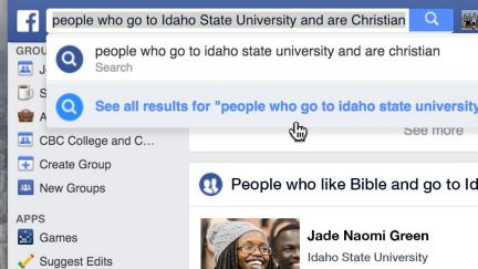 Buscando personas interesadas en Facebook