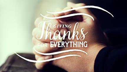 ¿Cómo agradecer incluso en el sufrimiento?