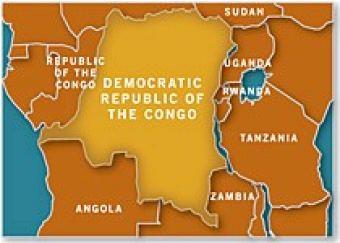 Map of Congo, Dem. Republic