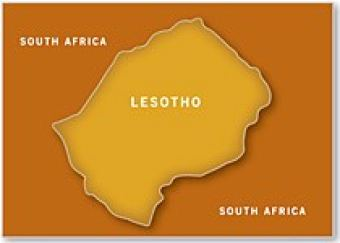 Map of Lesotho