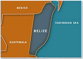 Map of Belize - Americas