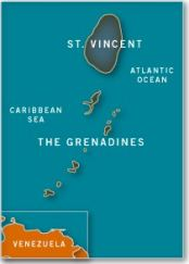Map of Saint Vincent and the Grenadines
