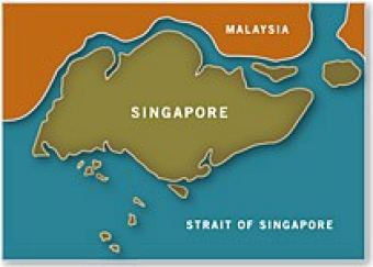 Map of Singapore - Asia