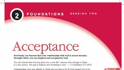 Session 2: Acceptance
